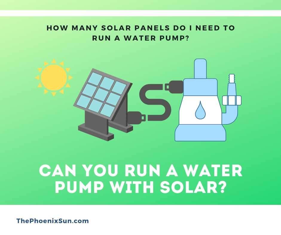 Can You Run a Water Pump with Solar?