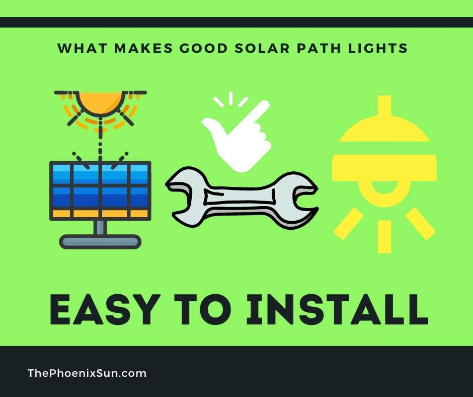 A Good Solar Path Light Is Easy To Install