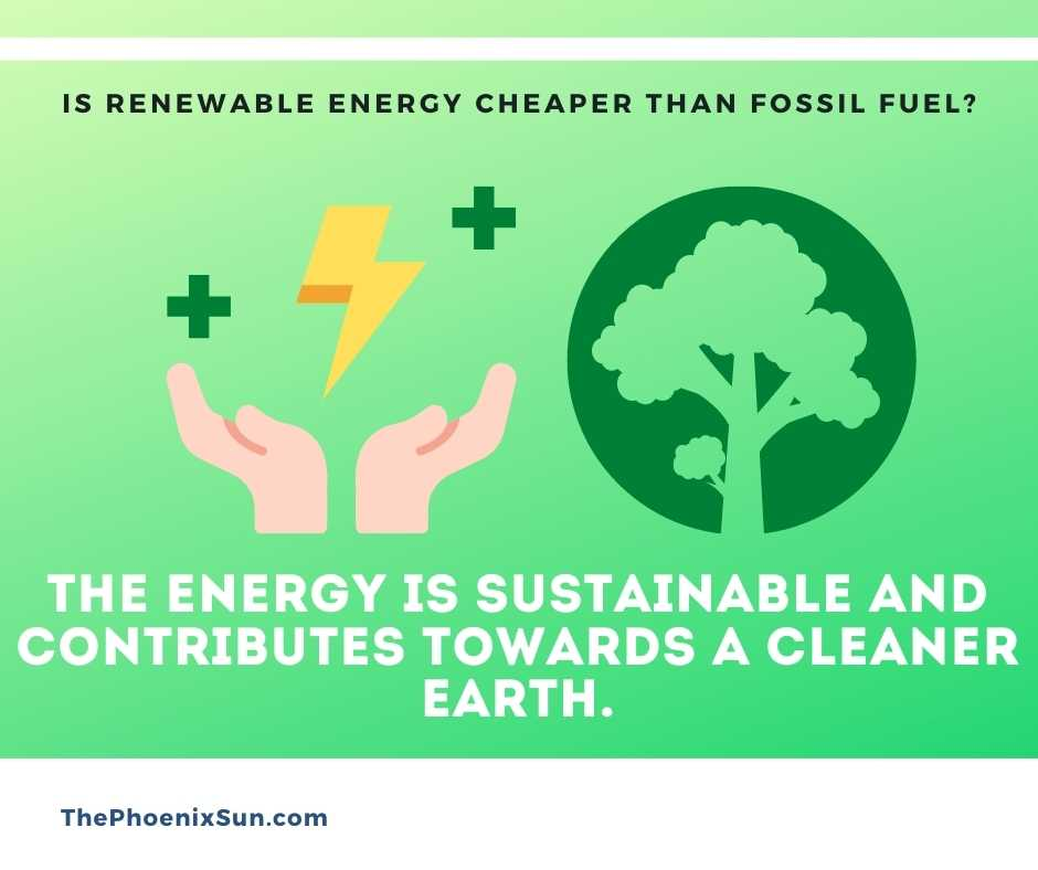 The energy is sustainable and contributes towards a cleaner earth.