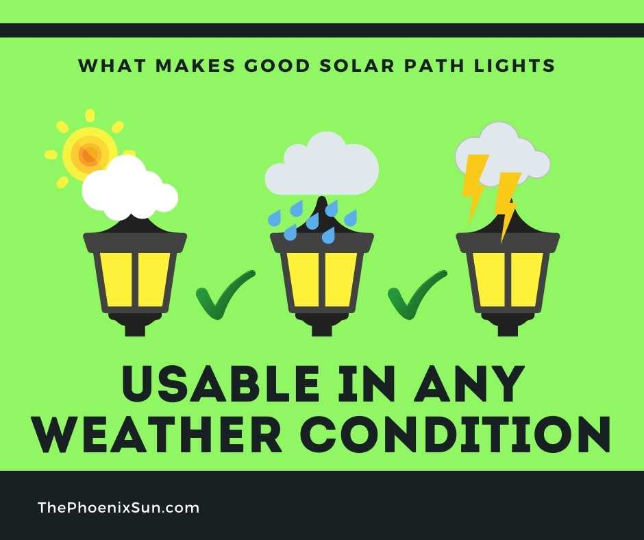 A Good Solar Path Light is Usable in Any Weather Conditions