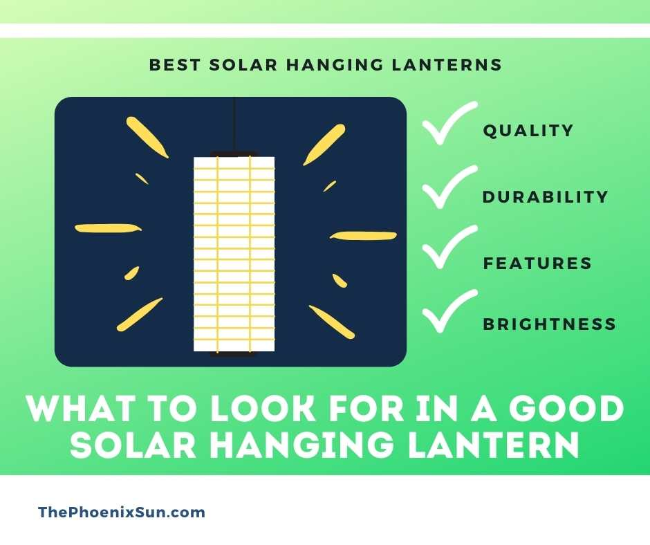 What To Look For in a Good Solar Hanging Lantern