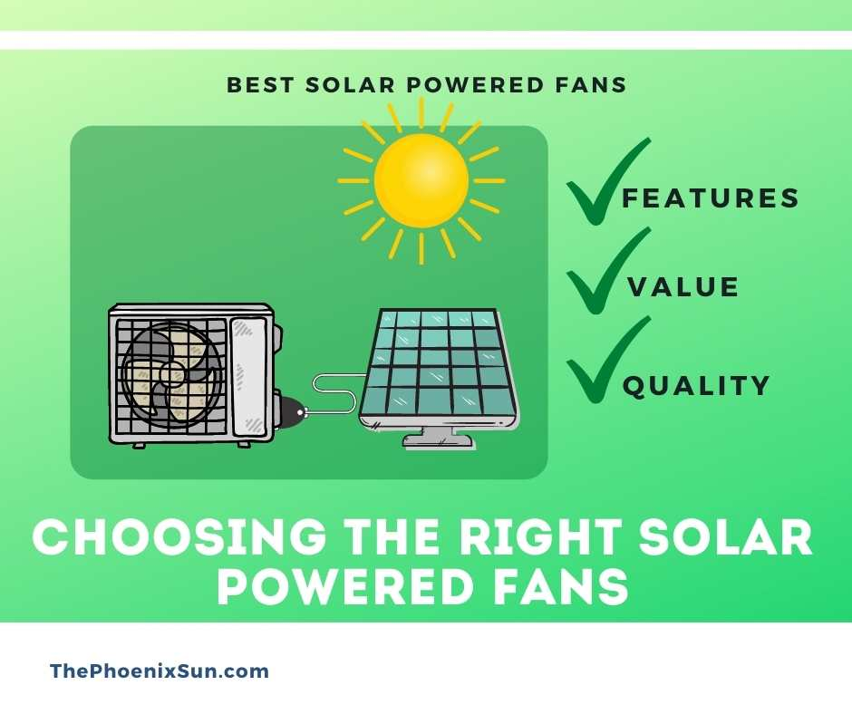 Choosing the Right Solar Powered Fans