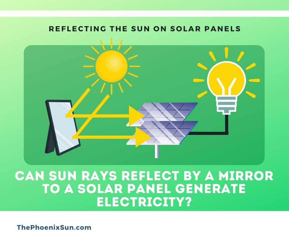 Can Sun Rays Reflect by a Mirror to a Solar Panel Generate Electricity?