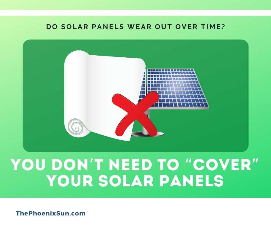 """You don't need to """"cover"""" your solar panels"""