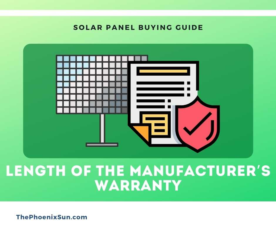 Length of the manufacturer's warranty