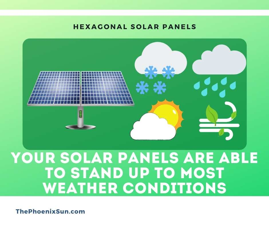 solar panels are able to stand up to most weather conditions