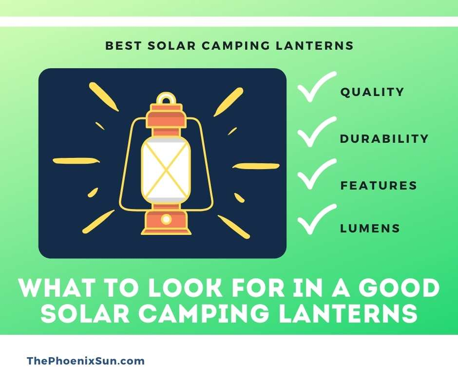 What to Look for in a Good Solar Camping Lanterns