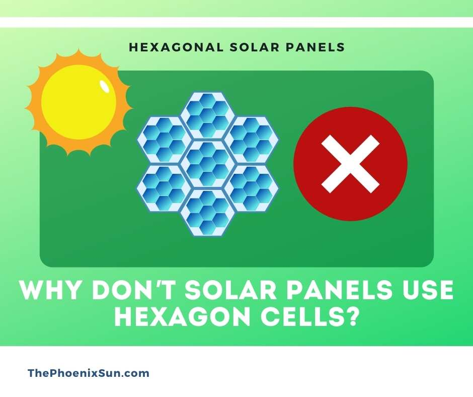 Why don't solar panels use hexagon cells?