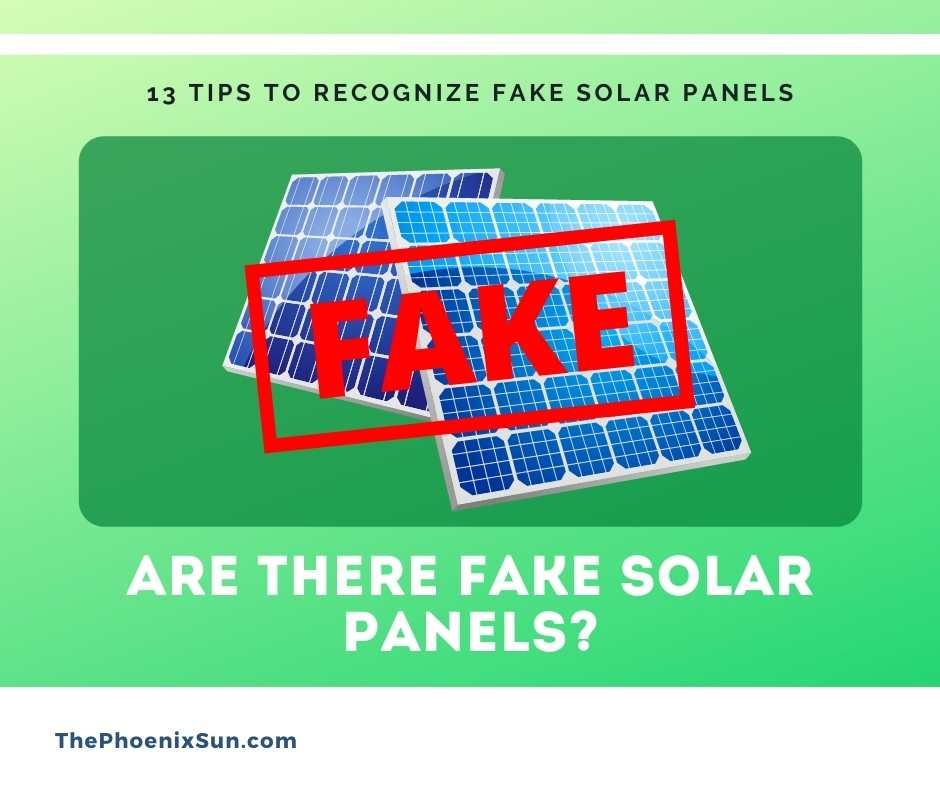 Are There Fake Solar Panels?