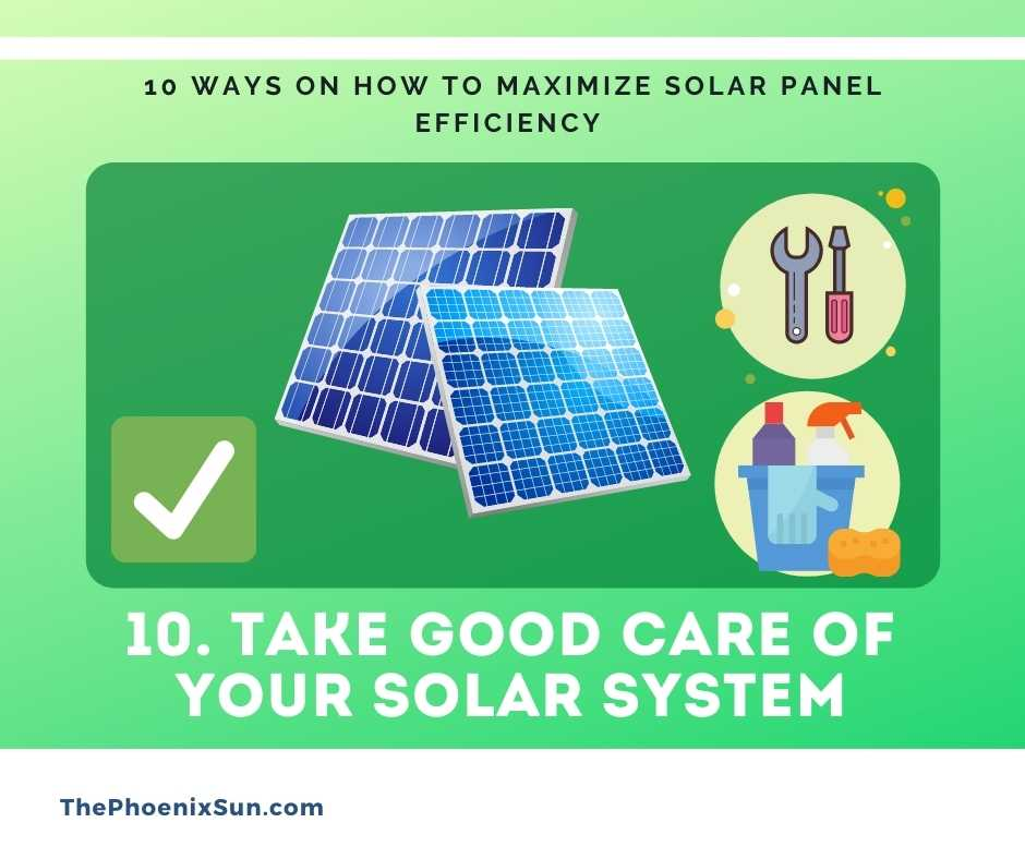 Take Good Care of Your Solar System