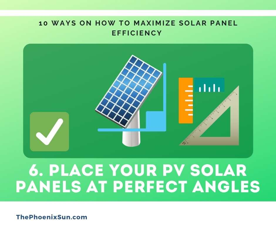 Place your PV solar panels at Perfect angles