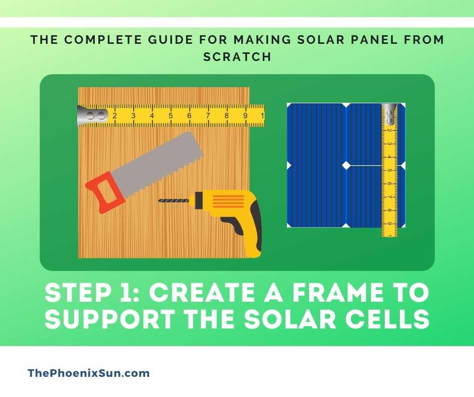 Step 1: Create a Frame to support the solar cells