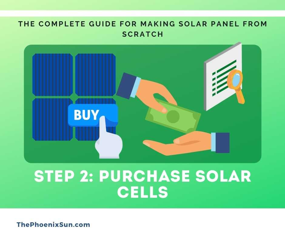 Step 2: Purchase Solar cells