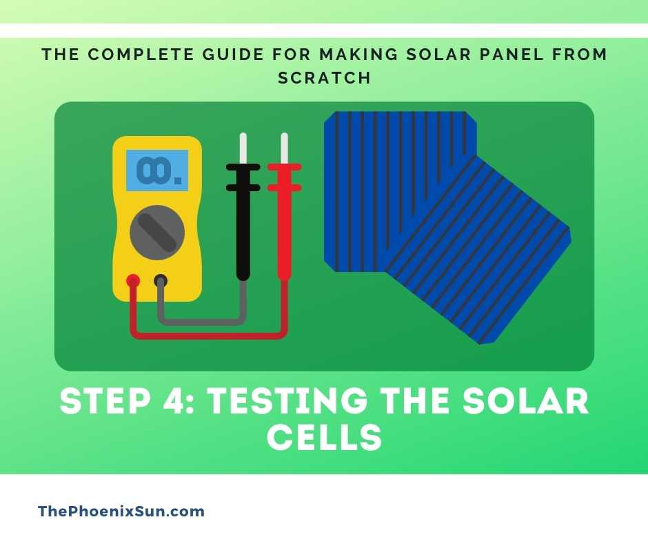 Step 4: Testing the solar cells