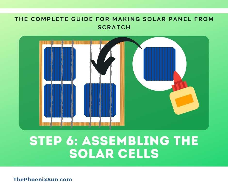 Step 6: Assembling the solar cells