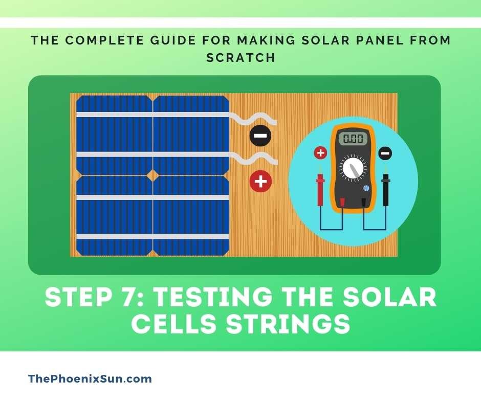 Step 7: Testing the solar cells strings