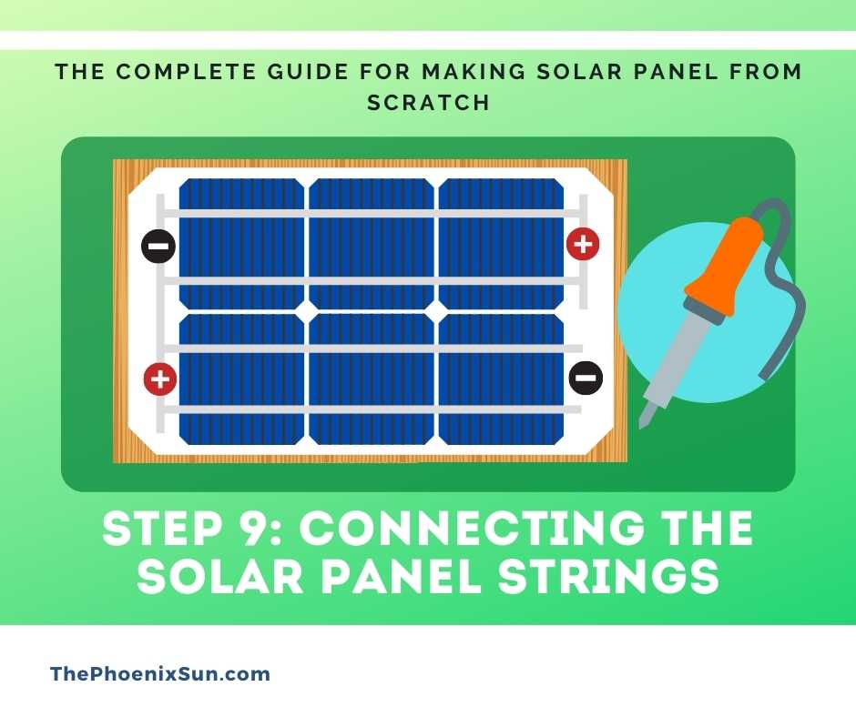 Step 9: Connecting the solar panel strings