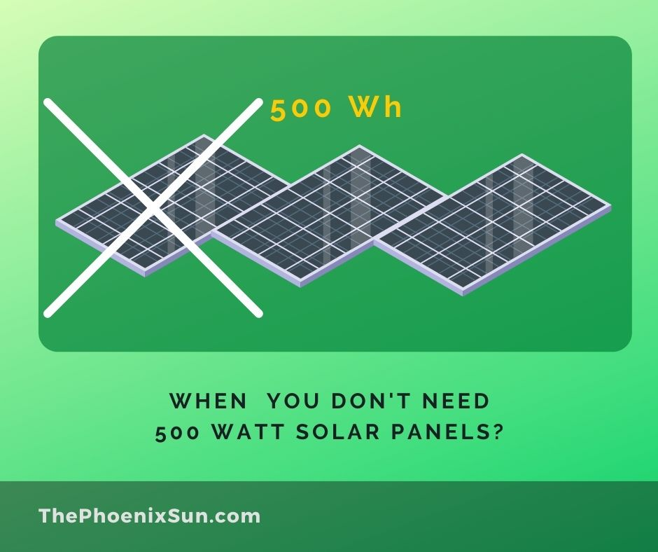 When You Don't Need 500 Watts Solar Panel Kit?