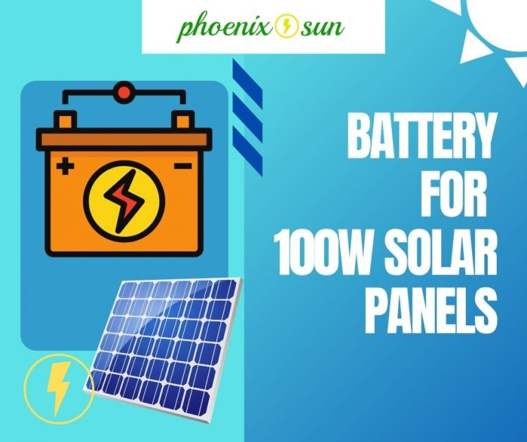 best battery for a 100w solar panel