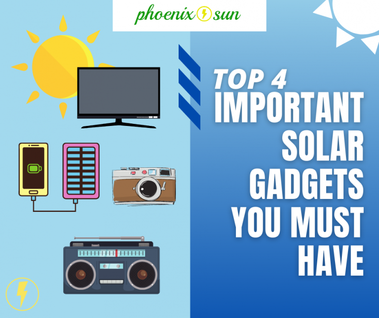 Top 4 Important Solar Gadgets You Must Have